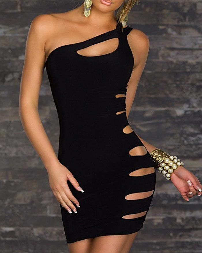 Sexy Lingerie Club Dress - Black S