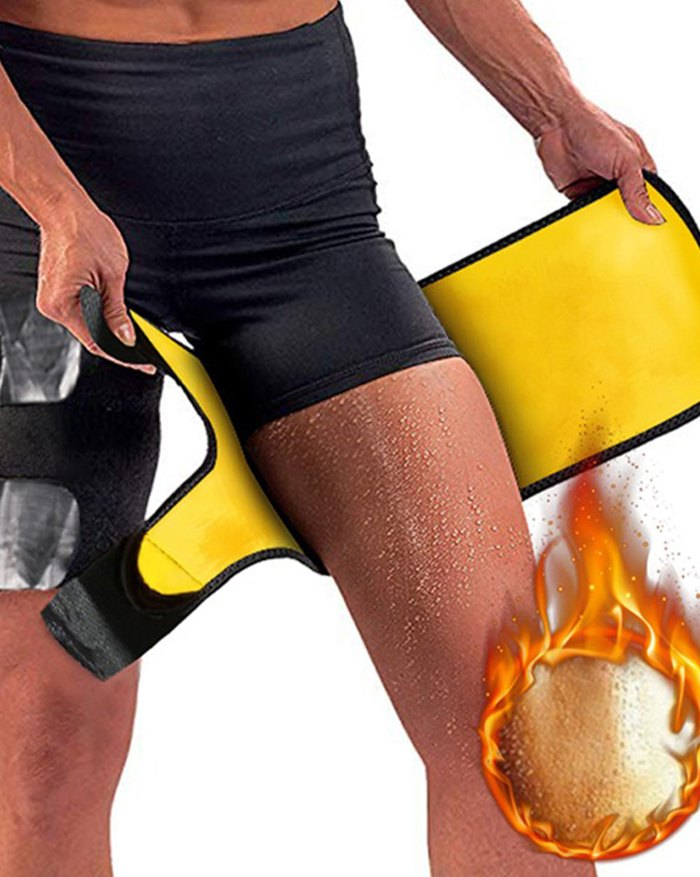 Thigh Trimmer Leg Shapers Slimming Belt Neoprene Sweat Shapewear - Black L