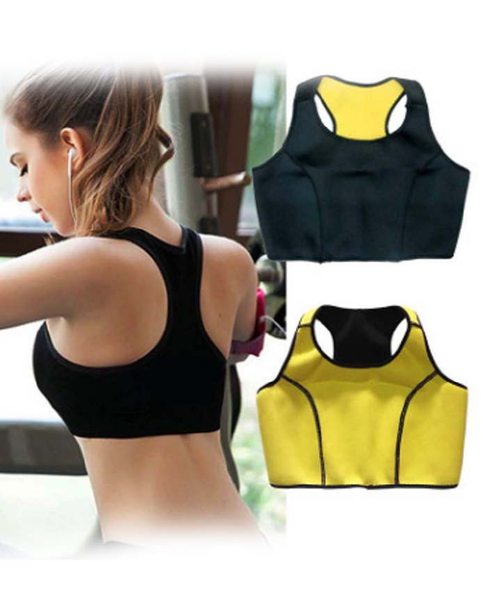 Bust Support Fitness Cropped Vest Shapewear - Black 3XL