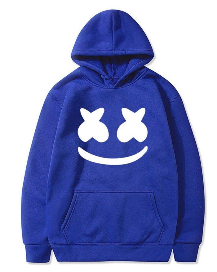 Men's 3D Print Sportwear Hoodie - Blue M