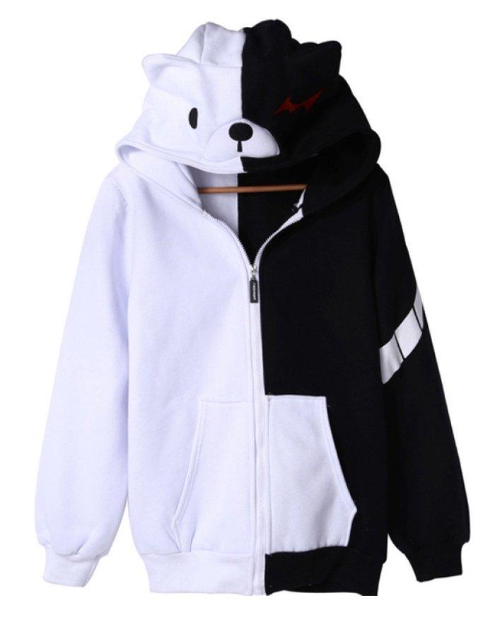 Men's Bear Cute Hoodie - multicolorple Colors XL