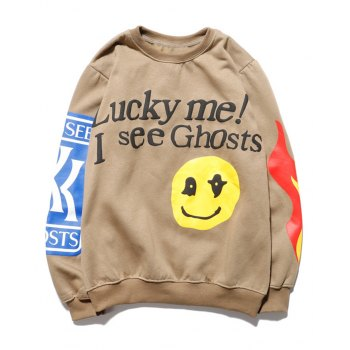 Men's Smiley Letter Printed Sweatshirt