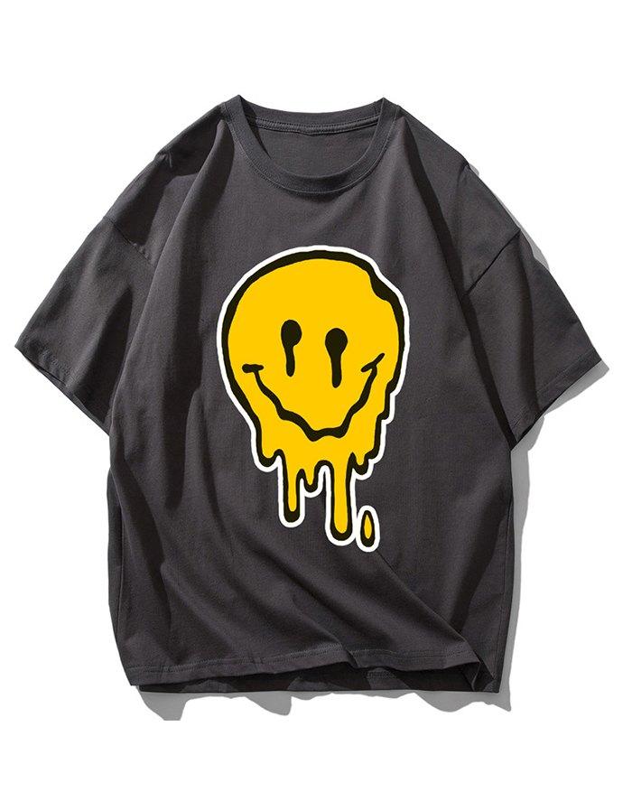 Men's Smile Print Tee - Dark Gray XL