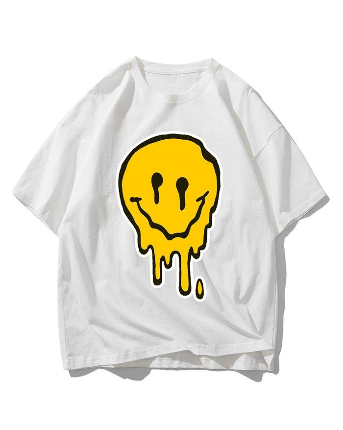 Men's Smile Print Tee - White XL