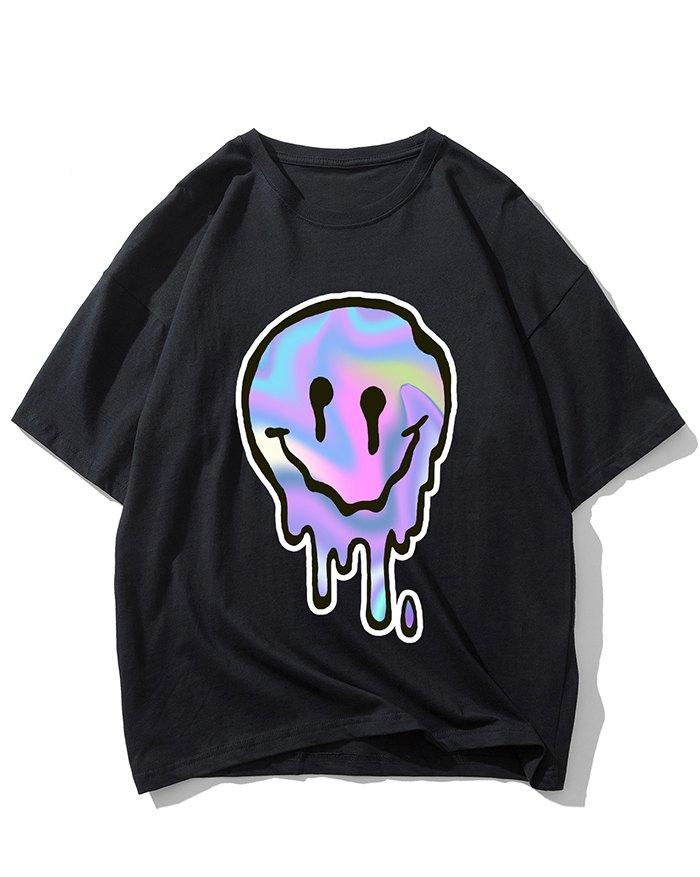 Men's Smile Print Tee - Black XL