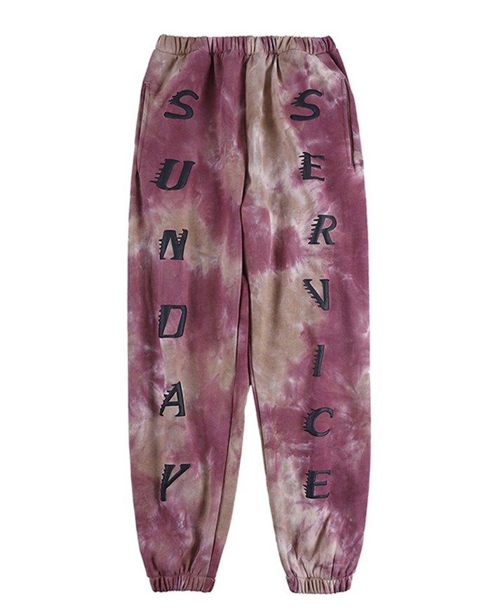 Men's High Street Tie-Dye Print Pants - multicolorple Colors XL