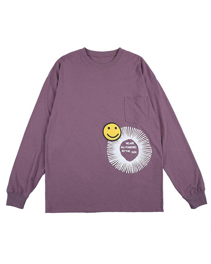 Men's High Street Smile Printed Tee - Purple XL