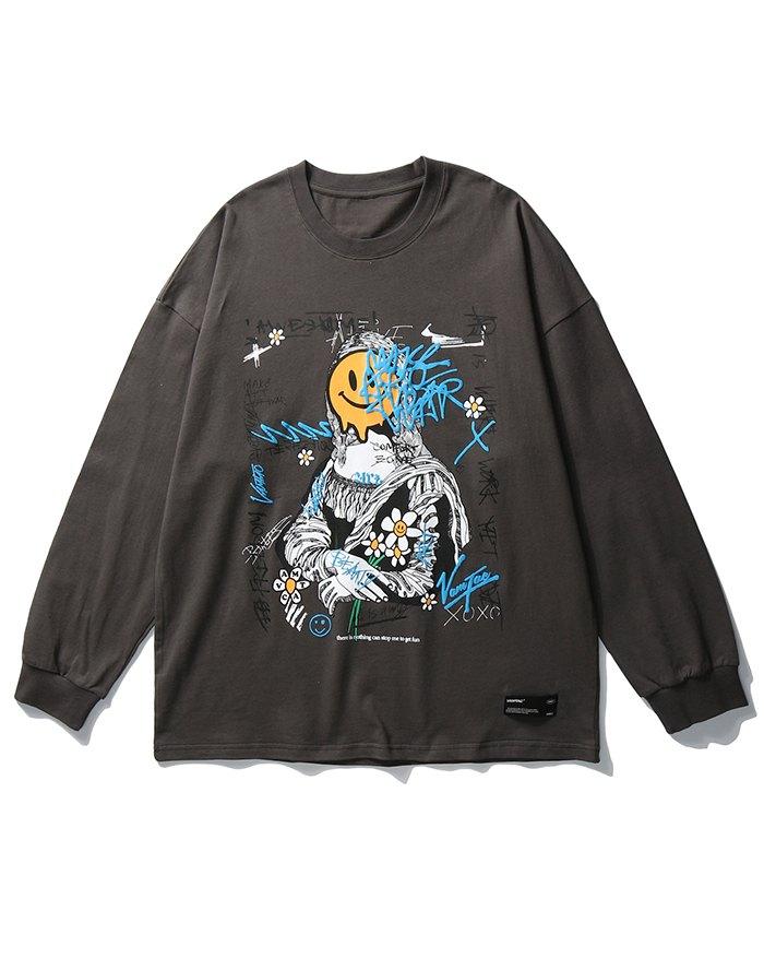 Men's High Street Smile Sweatshirt - Dark Gray XL