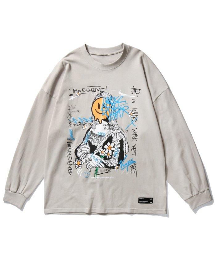 Men's High Street Smile Sweatshirt - Gray XL