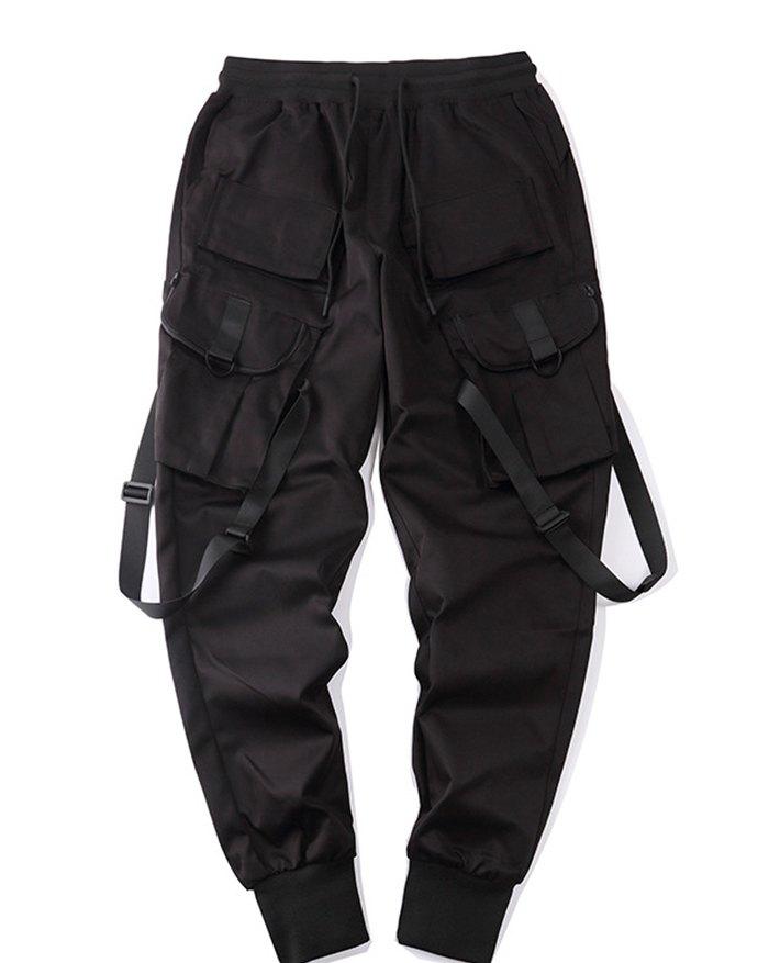 Men's Ribbon Pocket Cargo Pants - Black 2XL