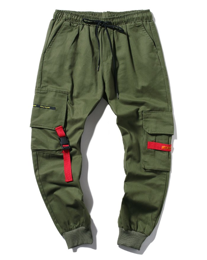 Men's Loose Cargo Pants - Chive 2XL