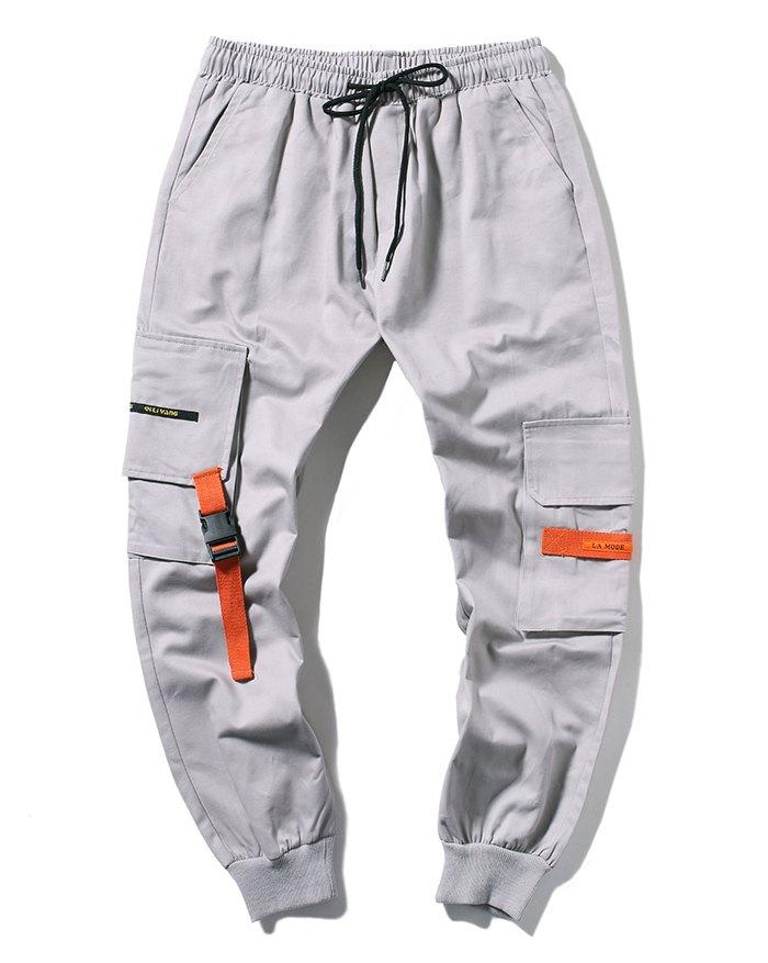 Men's Loose Cargo Pants - Gray 2XL