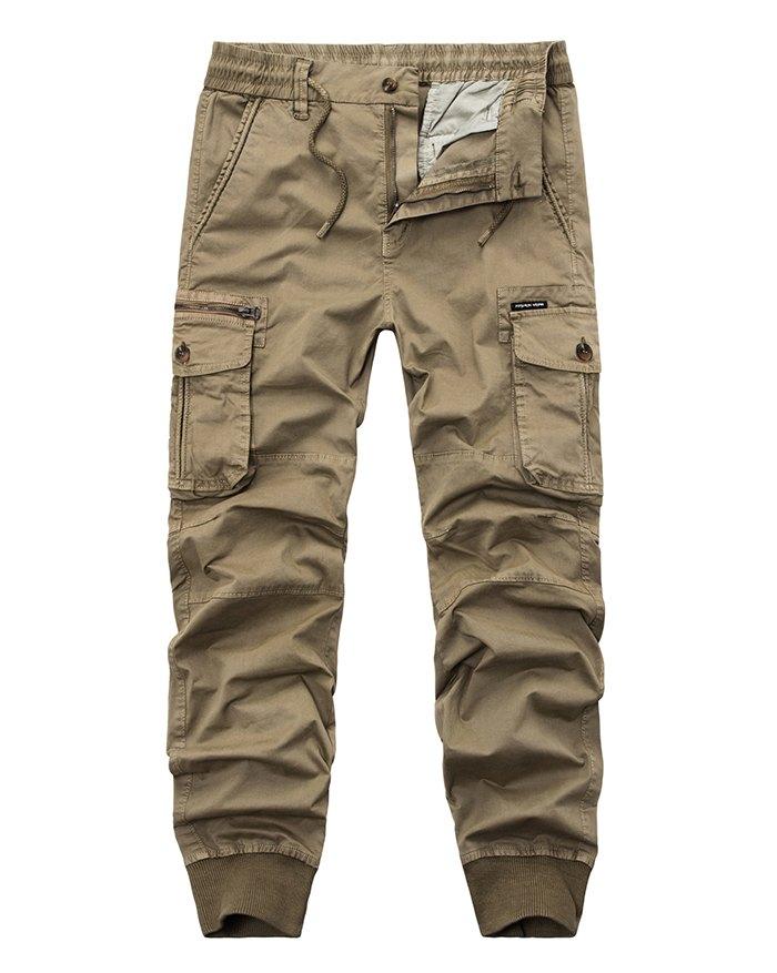 Men's Solid Cargo - Khaki 3XL