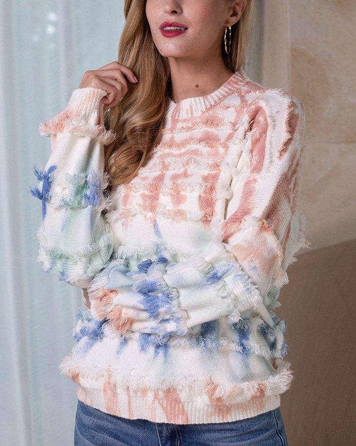 Tie Dye Sweater - Pink XL