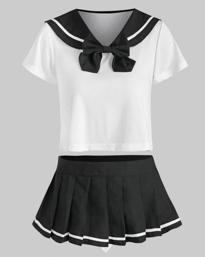 Lingerie Cosplay Students Costume Sexy Set - Black ONE SIZE