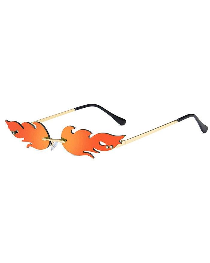 Flame Colorful Sunglasses - Orange ONE SIZE