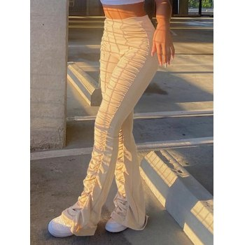 High Waisted Stacked Stretch Pants