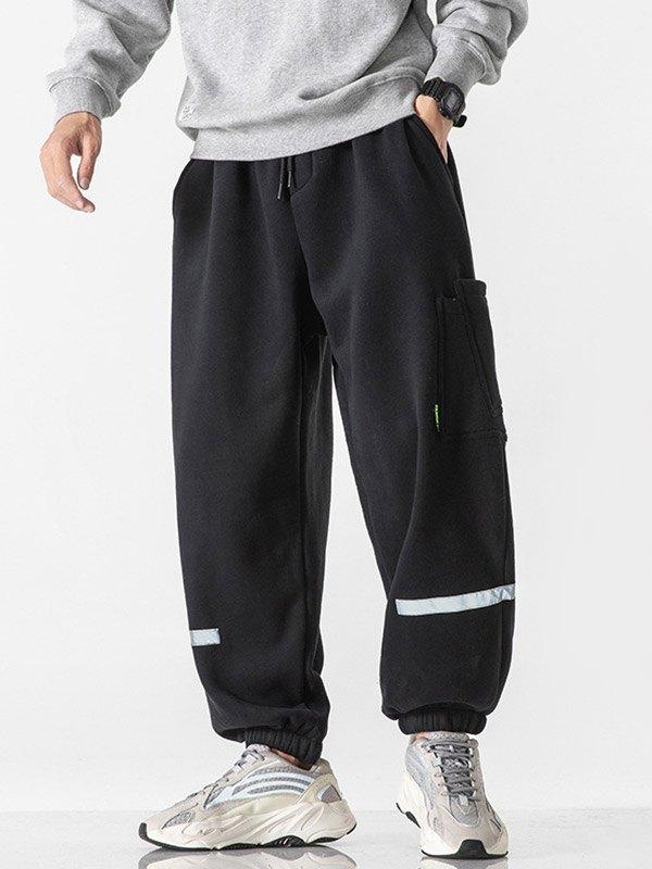 Men's Tapered Cargo Pants - Black 2XL
