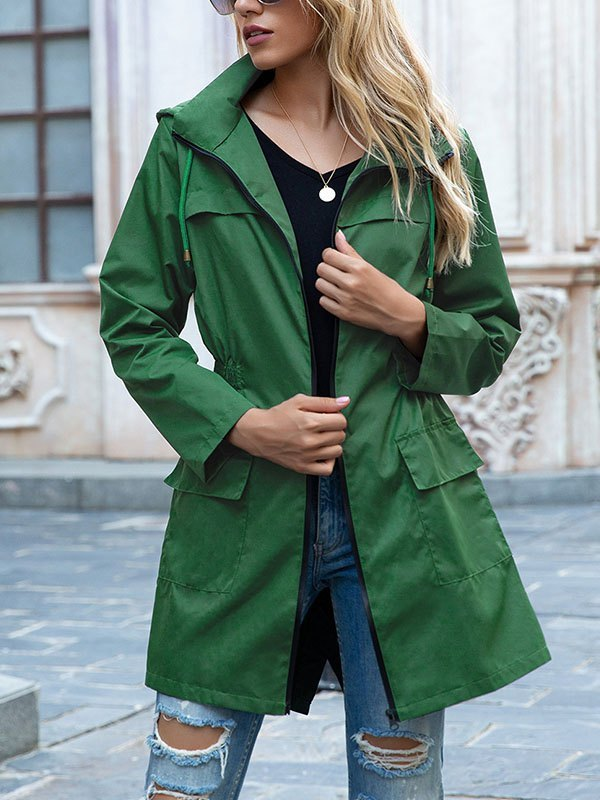 Water Proof Hooded Coat - Green 2XL