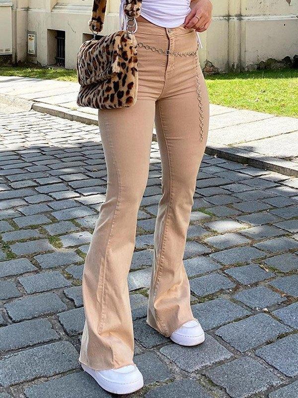 Vintage High Rise Flared Slim Jeans -