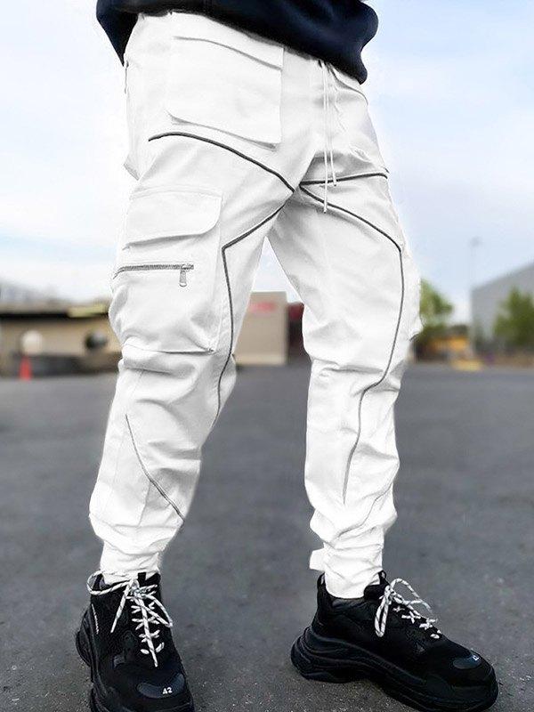 Men's Two Tone Cargo Pants - White M