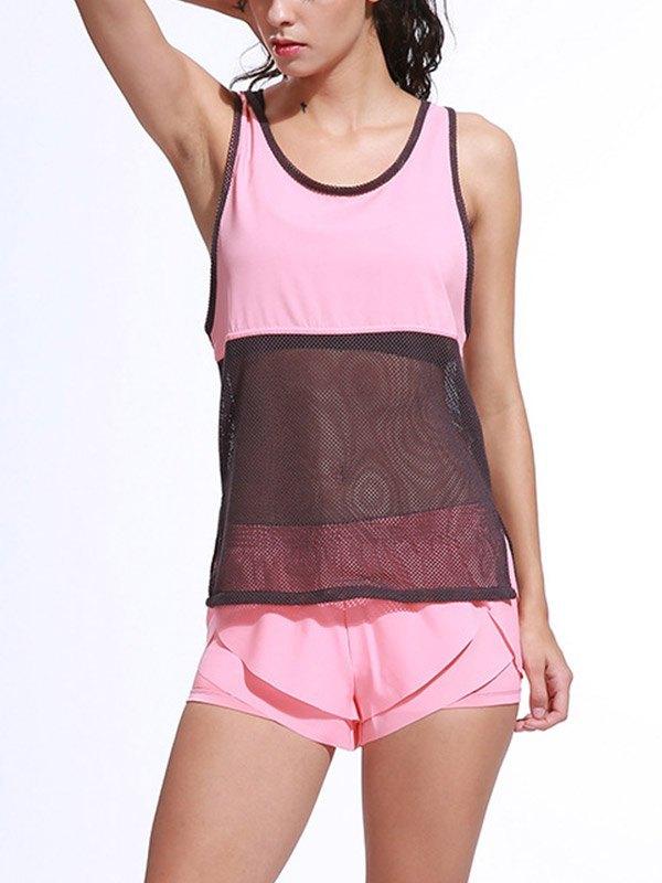 Quick Dry Mesh Active Set - Pink L
