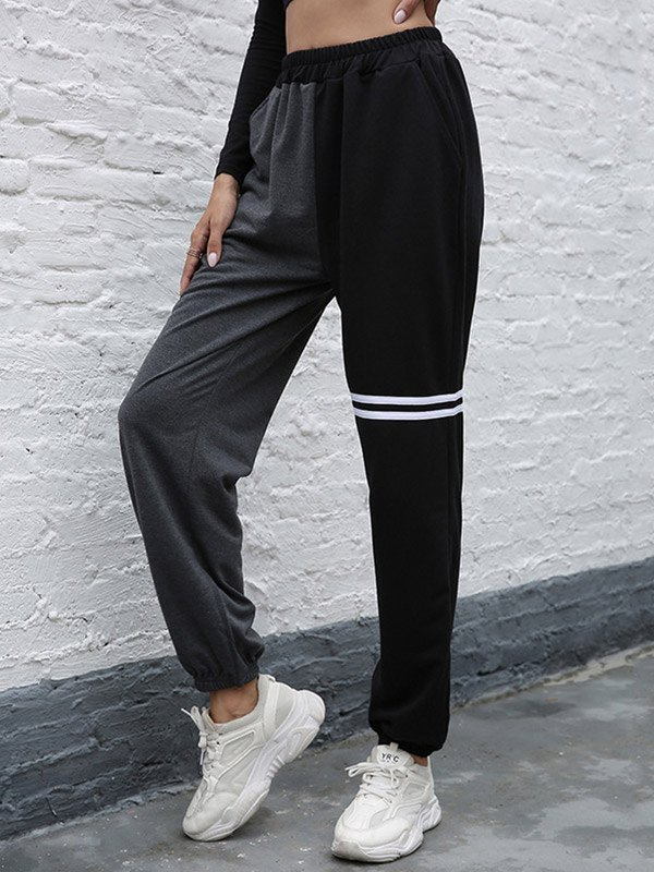 Two Tone Tapered Pants - multicolorple Colors XL