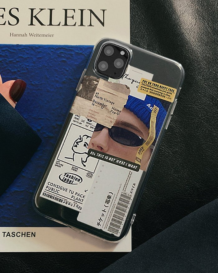 Label Iphone Case - Blue IPHONE 11