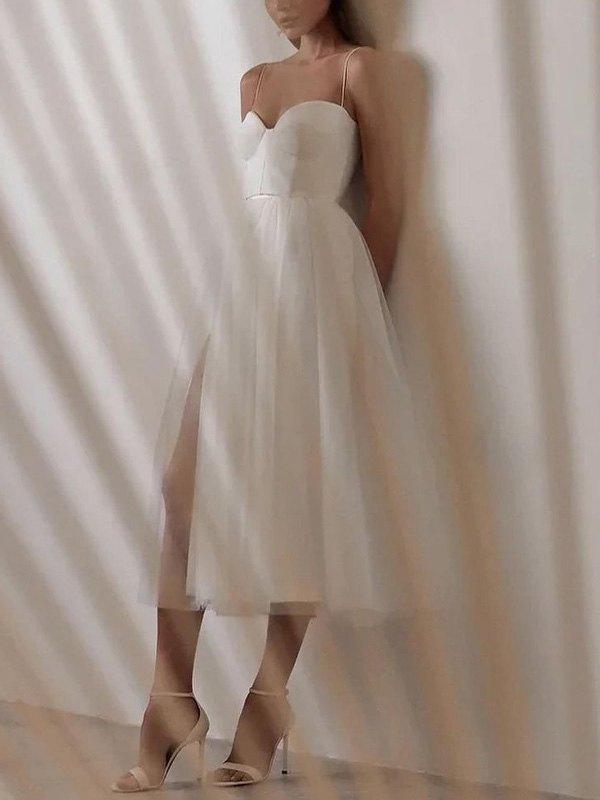 Vintage Mesh Slip Maxi Dress - Apricot M