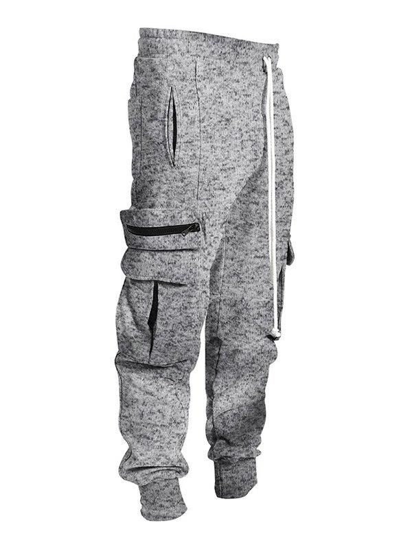 Men's Plush Lined Cargo Pants - Light Gray S