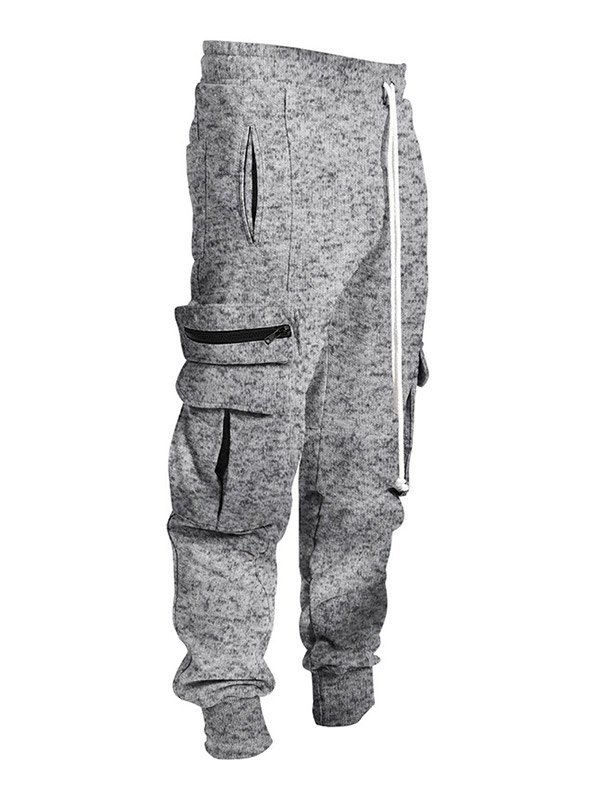 Men's Plush Lined Cargo Pants - Light Gray XL