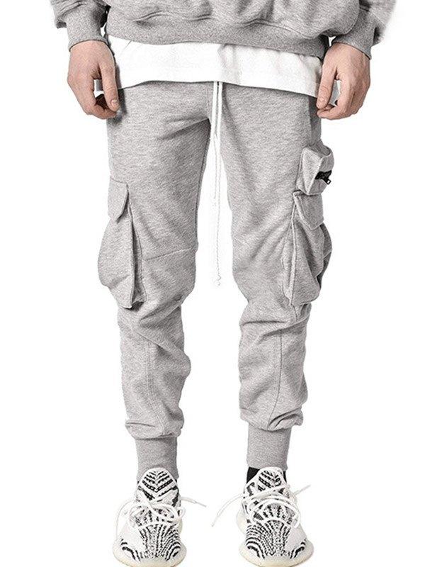 Men's Plush Lined Cargo Pants - Gray L