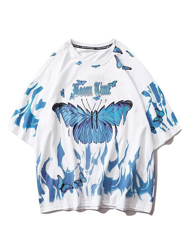 Booming Butterfly Graphic Tee - White S