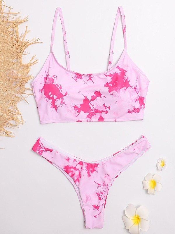 Tie-Dye Bikini Set - Pink L
