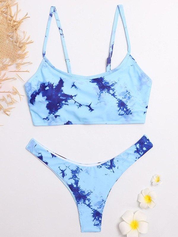 Tie-Dye Bikini Set - Blue M