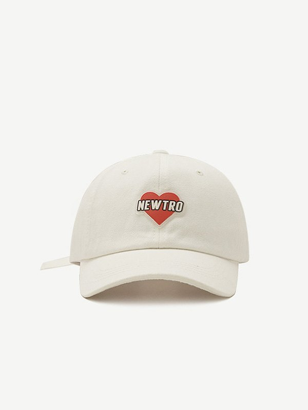 Heart Letter Graphic Baseball Hat - White ONE SIZE