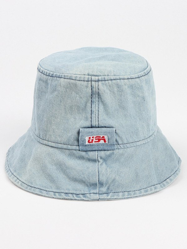 Washed Denim Bucket Hat - Sky Blue ONE SIZE