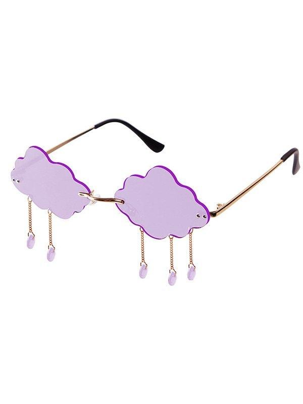 Creative Cloud Shaped Sunglasses - Purple ONE SIZE