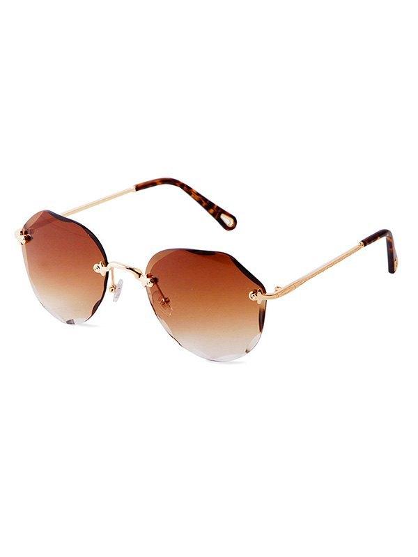 Rimless Trim Ombre Sunglasses -  ONE SIZE