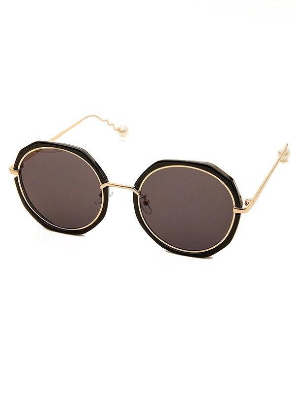 Vintage Geometric Frame Sunglasses - Black ONE SIZE