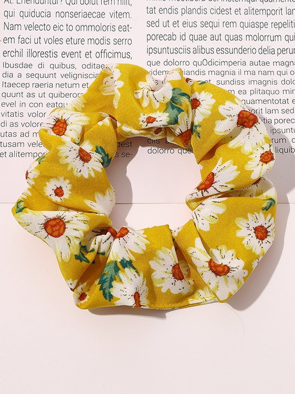 Daisy Print Hair Accessory - Yellow ONE SIZE