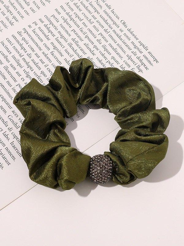 Diamante Ball Decor Hair Accessory - Green ONE SIZE