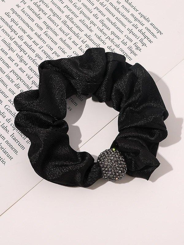 Diamante Ball Decor Hair Accessory - Black ONE SIZE