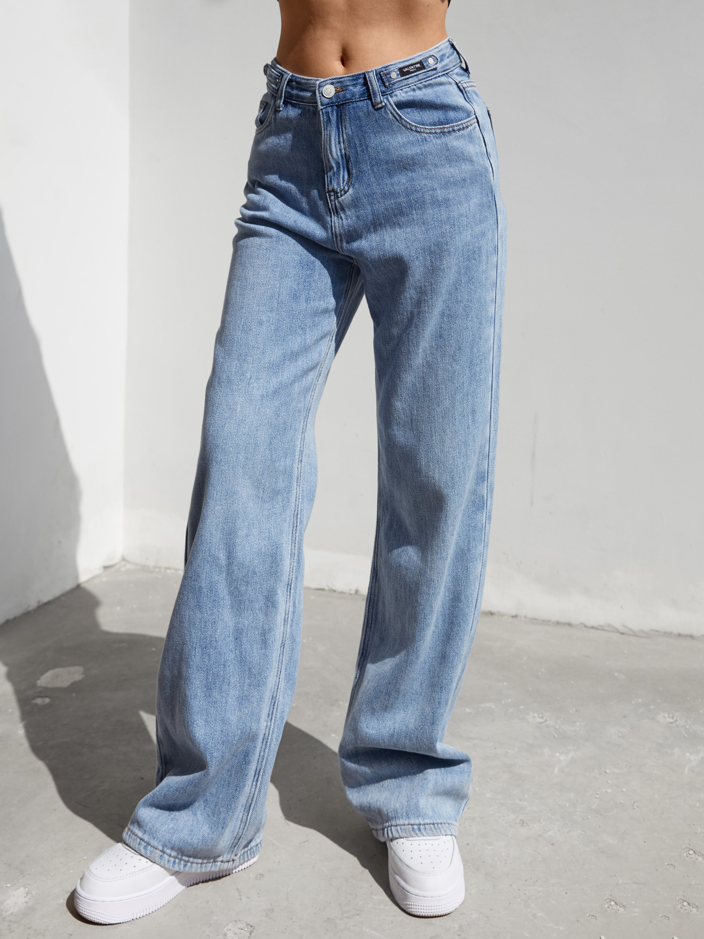 High Waist Mom Jeans - Blue M
