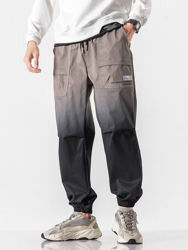 Men's Ombre Jogger Pants - Gray M