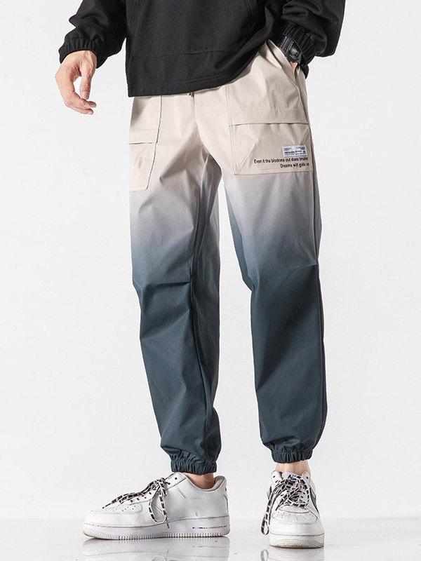 Men's Ombre Jogger Pants - Khaki L