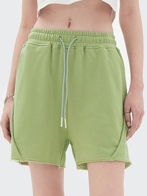 Straight Solid Sweat Shorts - Biscay Green XL