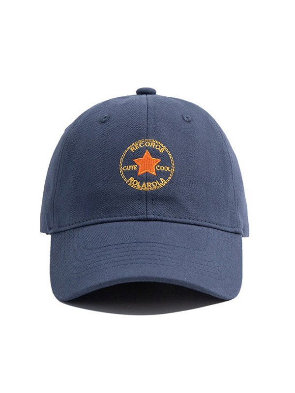 Star Embroidered Baseball Hat - Navy Blue ONE SIZE