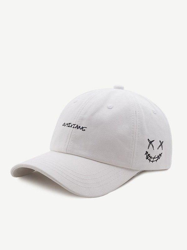 Devil's Smile Baseball Hat - White ONE SIZE