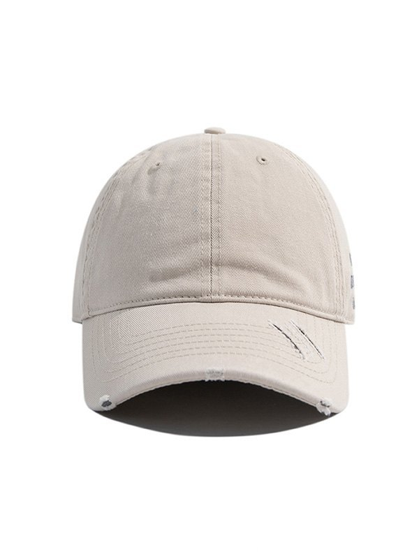 Distressed Washed Baseball Hat - Gray ONE SIZE